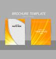 Orange flyer template vector image