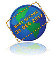 earth expiry date vector image