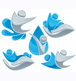 silver and water logos vector image