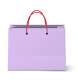 Violet shopping paper bag isolated on white vector image