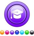 Graduation circle button vector image