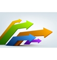 Abstract 3d arrows with place for text vector image