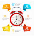 alarm clock menu infographic option banner card vector image