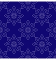 Blue mandala Patterned Design Element yoga logo vector image
