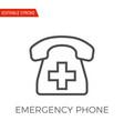 emergency phone icon vector image