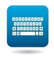 Keyboard icon flat style vector image