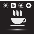 Mug of tea icon Morning coffee logo vector image
