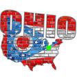 ohio on a brick wall vector image