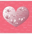 Paper Heart Shapes vector image