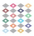 Seamless pattern casual star vector image
