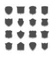 security shield labels set vector image