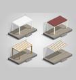 set of garden sheds vector image