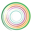 watercolor circles rainbow vector image