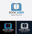 Book Logo Set 1 vector image