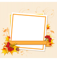 Autumn frame with berry vector image vector image