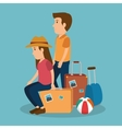 people tourists avatars characters vector image