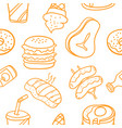 collection of food element art vector image