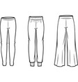 womens casual pants vector image vector image