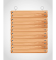 rectangular wooden board with grommets for hanging vector image