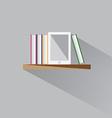 E-book on a shelf vector image