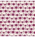 Tableware seamless pattern vector image
