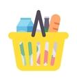 Shop product basket vector image
