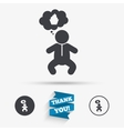 Baby infant sign icon Toddler boy symbol vector image