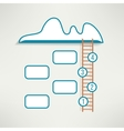 Cloud with ladder simple clean infographics design vector image