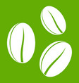 coffee beans icon green vector image