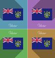 Flags Pitcairn Islands Set of colors flat design vector image
