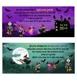 Halloween invitations vector image