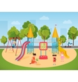 Kids children playing in the playground vector image