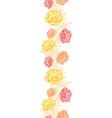 Pink yellow orange leaves butterflies vector image