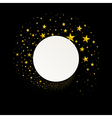 Round Banner with a Stream of Gold Stars vector image
