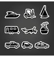 Set labels transport icons vector image