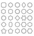 set of outline badge shape vector image