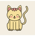 cute cat tender isolated icon vector image