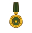 military medal icon image vector image