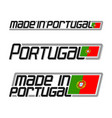 made in portugal vector image