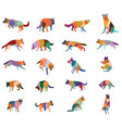 set of colorful dogs vector image