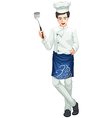 A male chef vector image