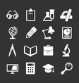 Set icons of school and education vector image