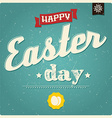 Happy Easter day card typographical background vector image