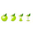 biten apple vector image vector image