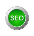 seo button vector image vector image