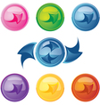 Colored buttons with arrows vector image