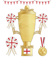 england football trophy vector image vector image
