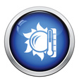 Sun and thermometer with high temperature icon vector image vector image