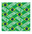 Brazil football seamless pattern vector image