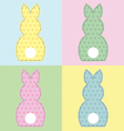 Bunny 4 panels vector image